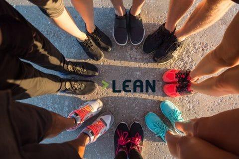 LEAN-laufen-Turnschuhe